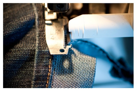how to shorten jeans and keep the original hem